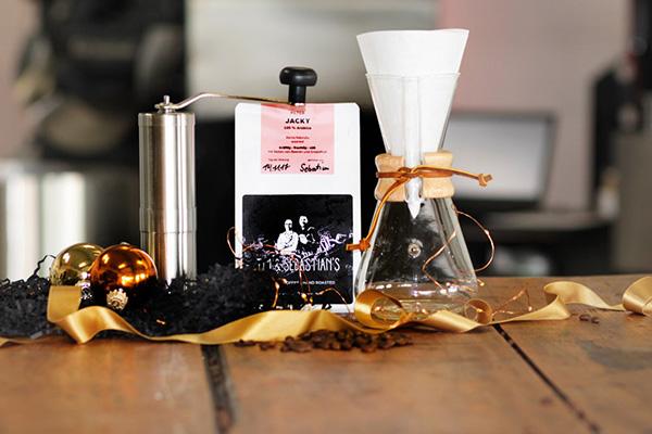 Tim und Sebastians Weihnachtsgeschenk Kaffeebohnen Jacky